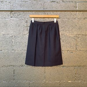 Vintage Saks Fifth Avenue Black Wool Skirt